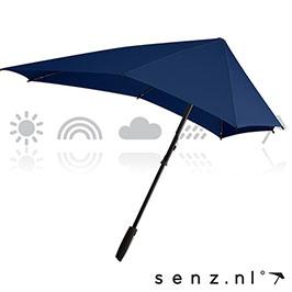senz smart regenschirm blau